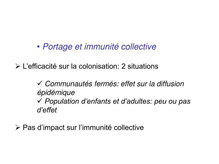 Portage et immunité collective
