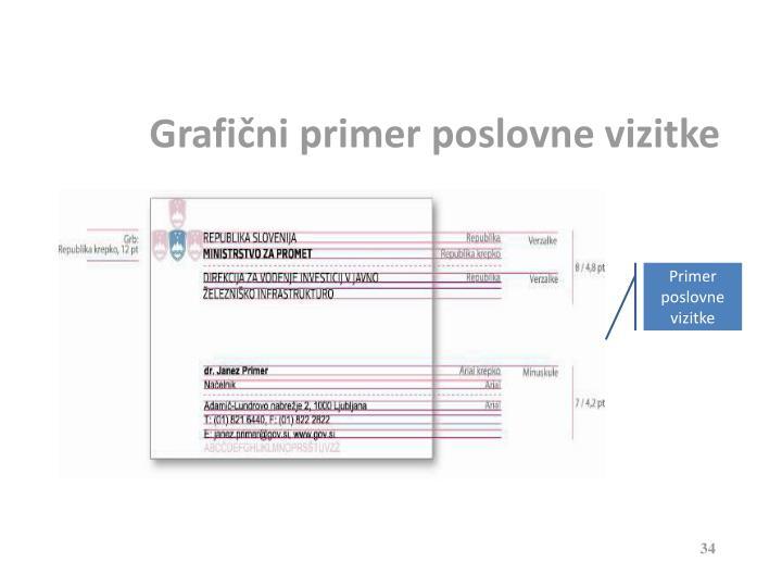 Grafični primer poslovne vizitke
