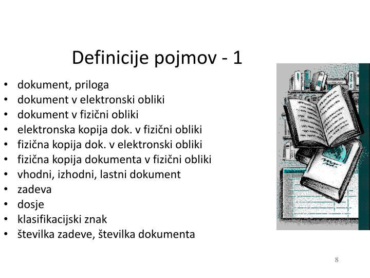 Definicije pojmov - 1