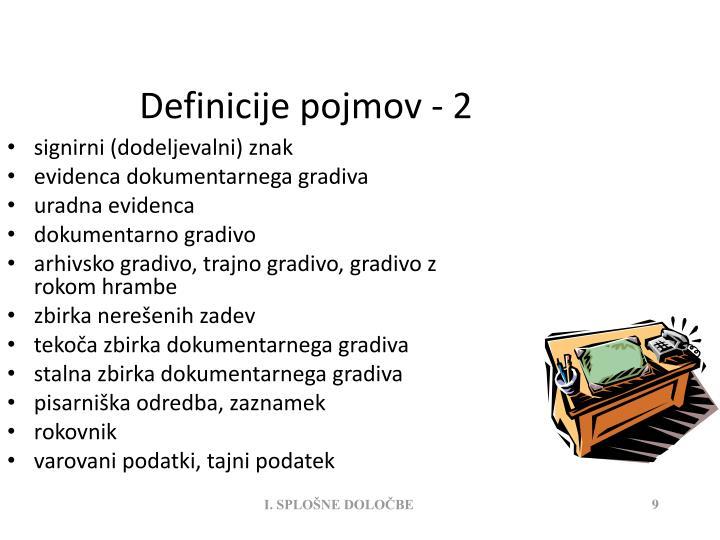 Definicije pojmov - 2