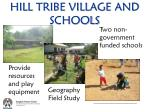 hill tribe village and schools