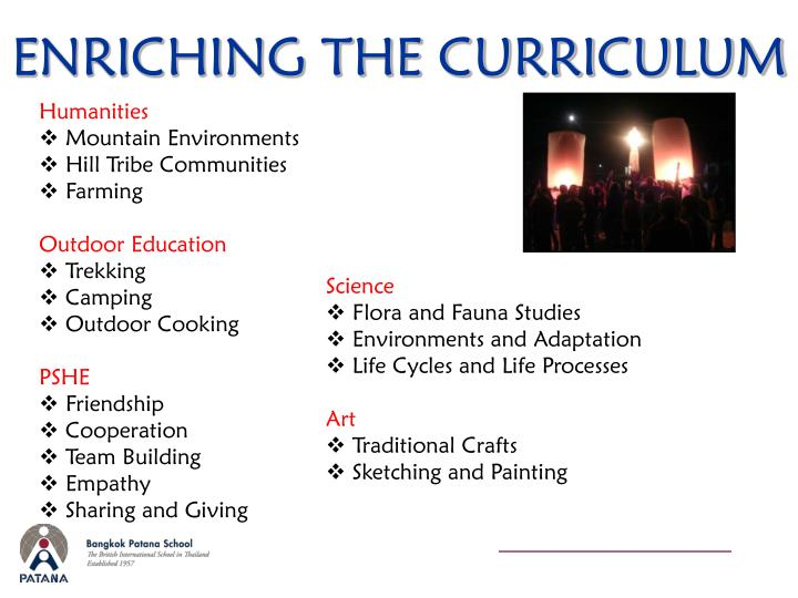 ENRICHING THE CURRICULUM