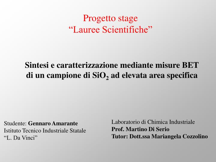 Progetto stage