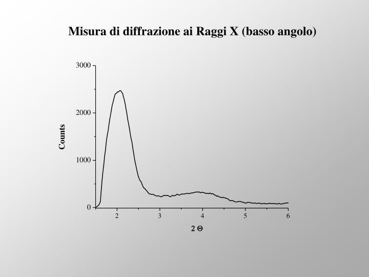Misura di diffrazione ai Raggi X (basso angolo)