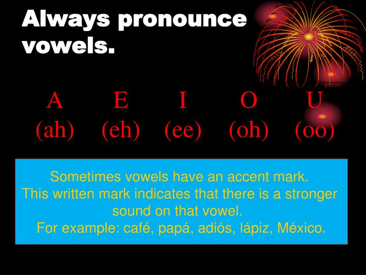 Always pronounce vowels.
