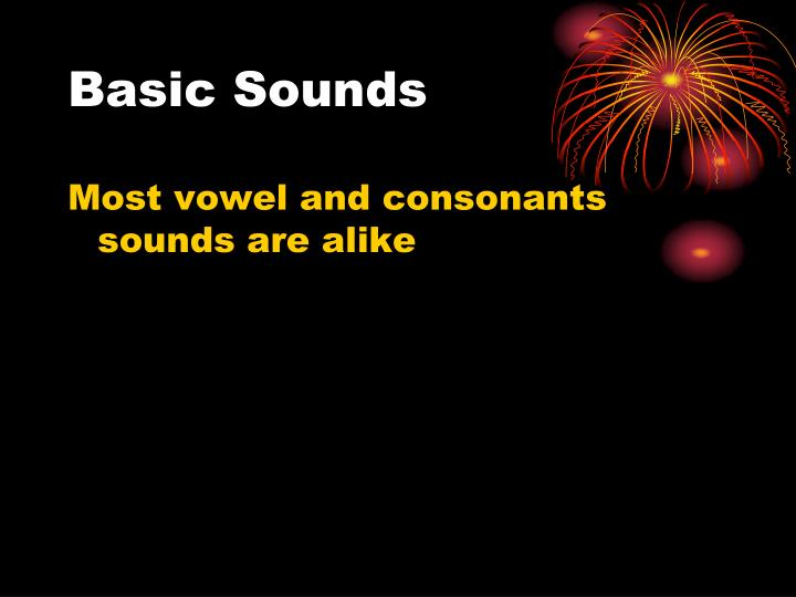 Basic Sounds