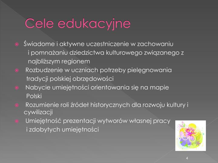 Cele edukacyjne