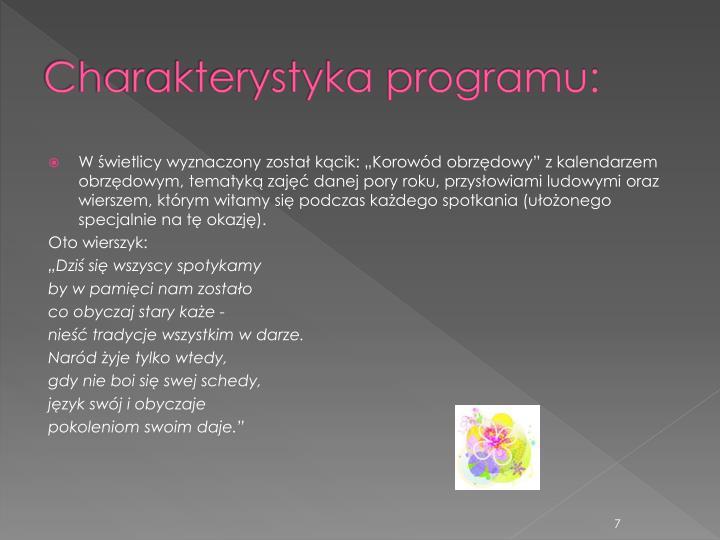 Charakterystyka programu: