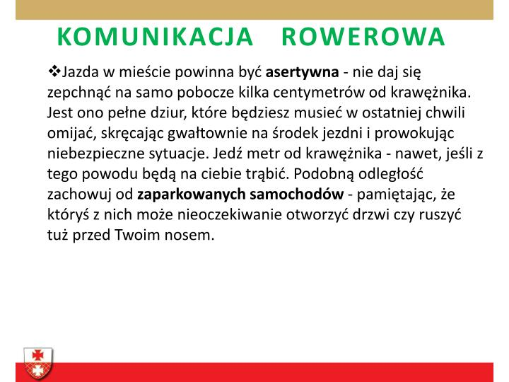 KOMUNIKACJA   ROWEROWA
