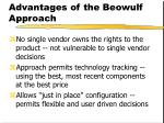 advantages of the beowulf approach