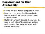requirement for high availability