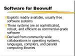 software for beowulf