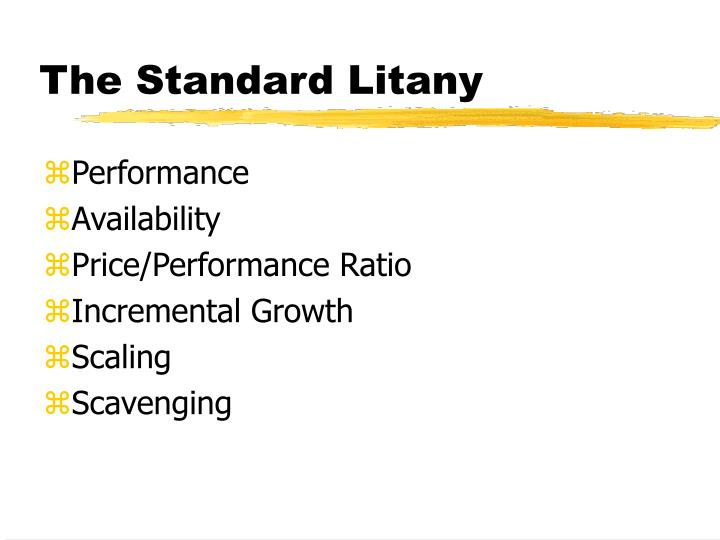 The Standard Litany