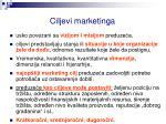 ciljevi marketinga