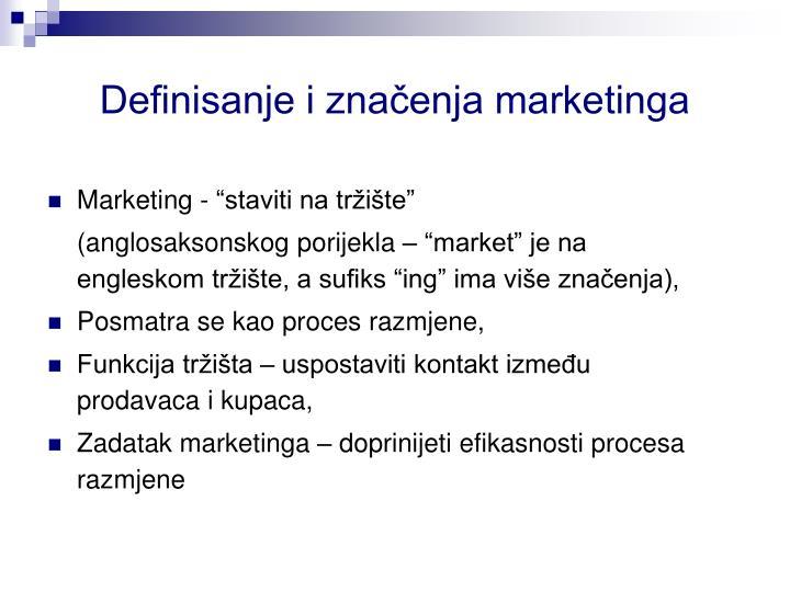 """Marketing - """"staviti na tržište"""""""