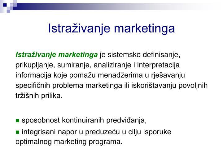 Istraživanje marketinga