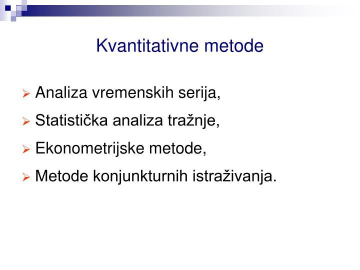 Kvantitativne metode
