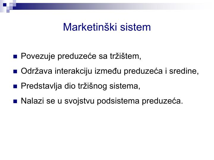 Marketinški sistem