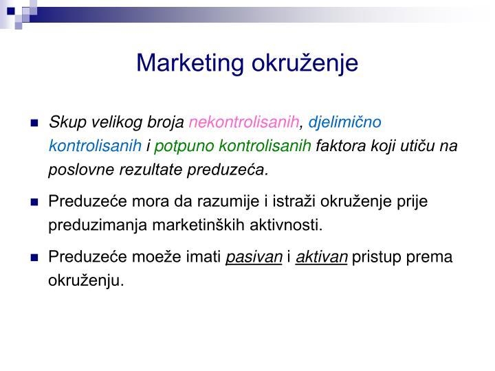 Marketing okruženje