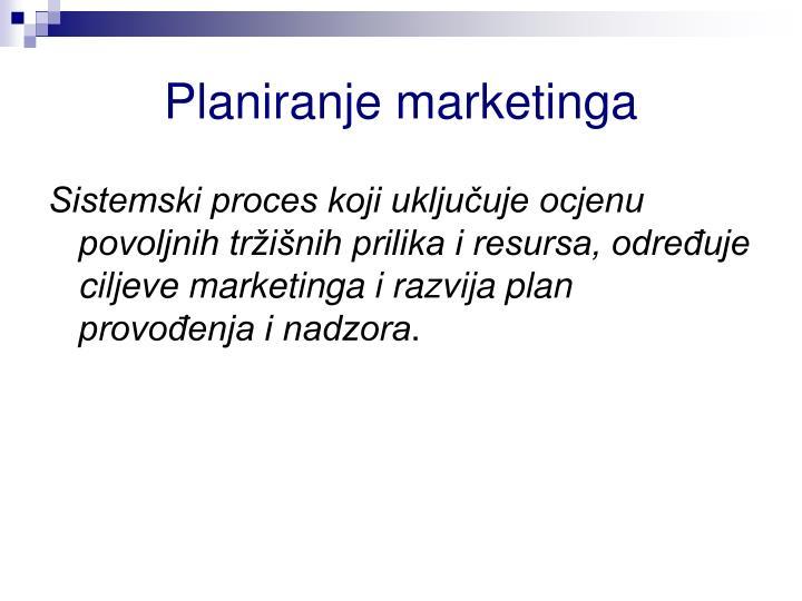 Planiranje marketinga
