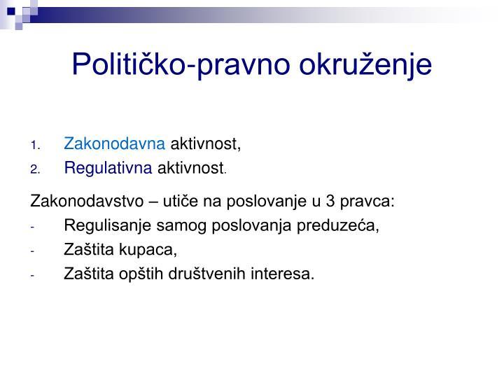 Političko-pravno okruženje