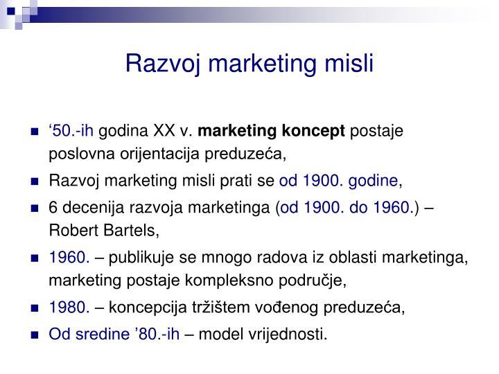 Razvoj marketing misli