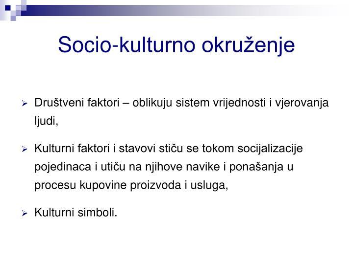 Socio-kulturno okruženje