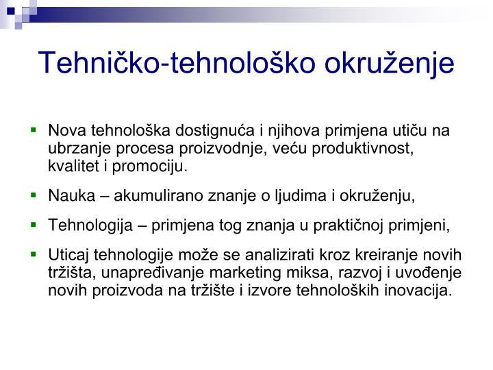Tehničko-tehnološko okruženje