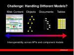 challenge handling different models