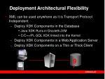 deployment architectural flexibility