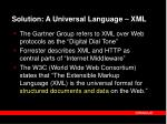 solution a universal language xml