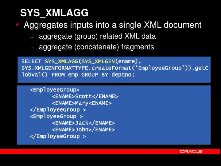 SYS_XMLAGG