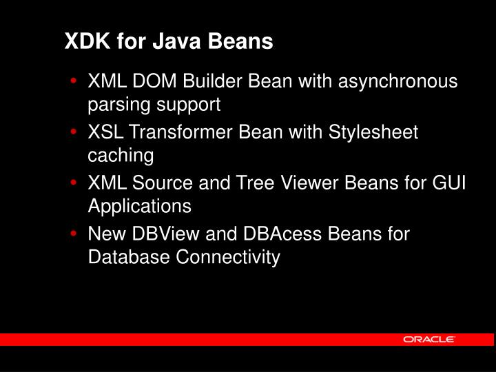XDK for Java Beans
