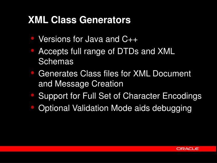 XML Class Generators