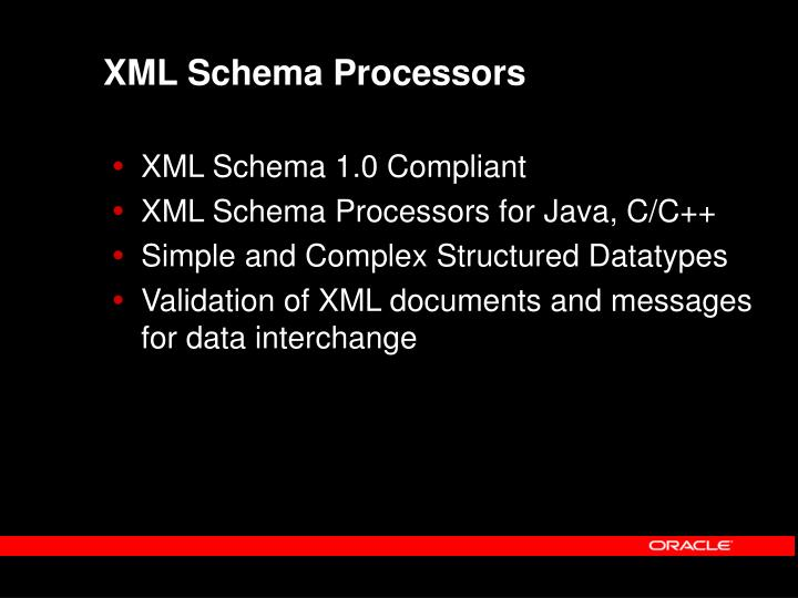 XML Schema Processors