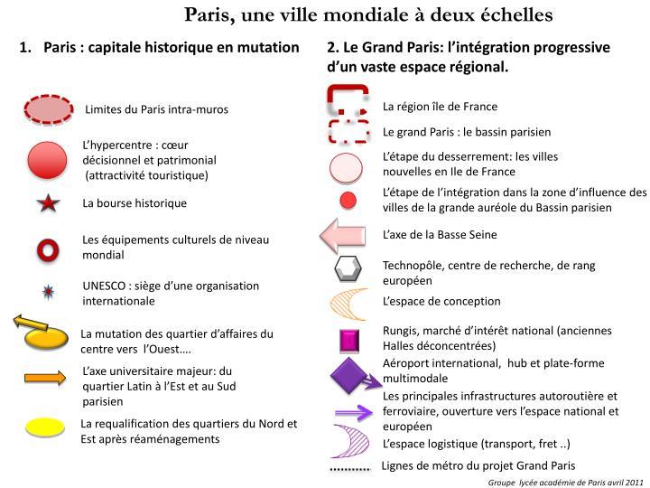 Paris, une ville mondiale à deux échelles
