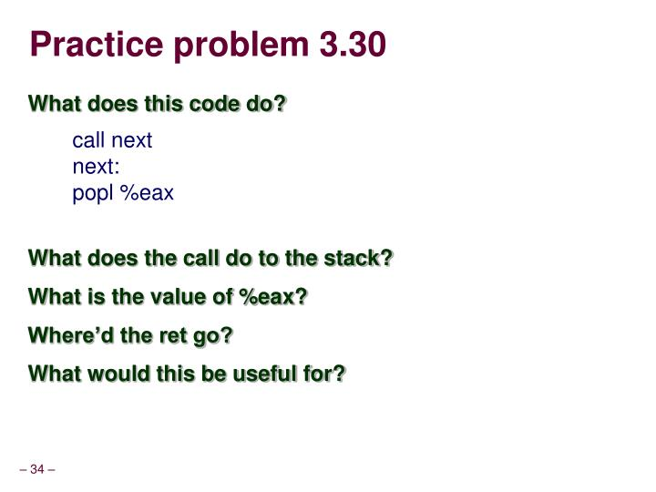 Practice problem 3.30