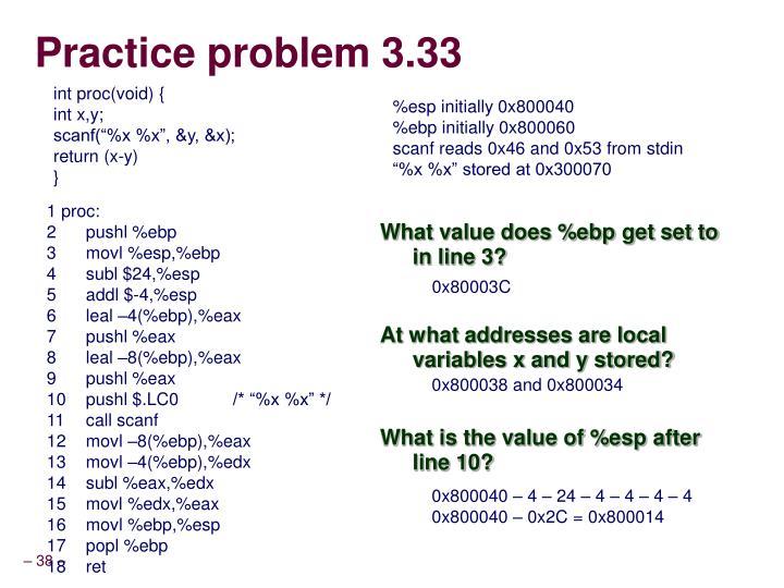 Practice problem 3.33
