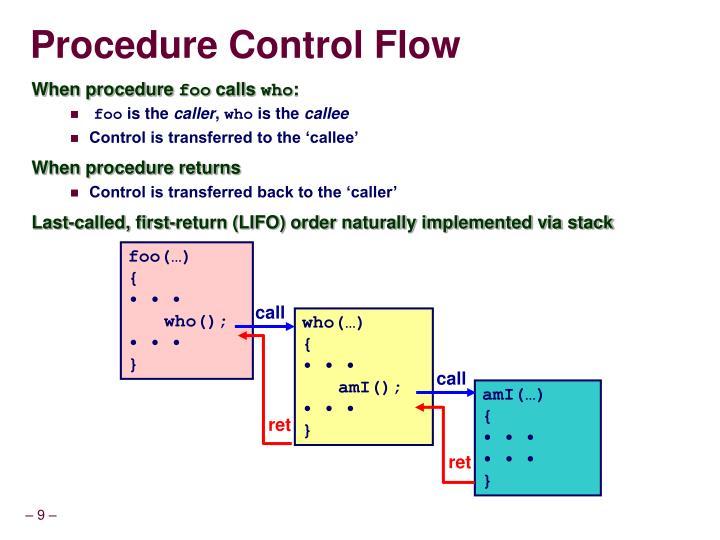 Procedure Control Flow