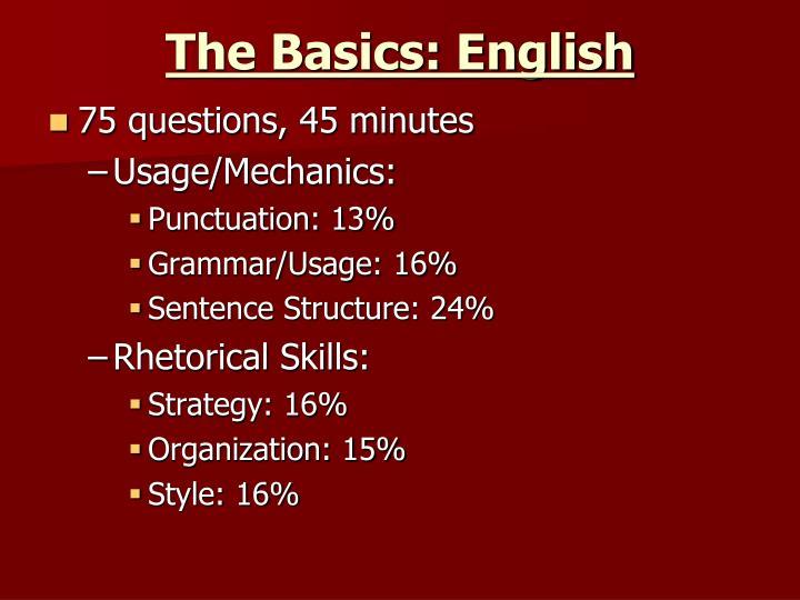 The Basics: English