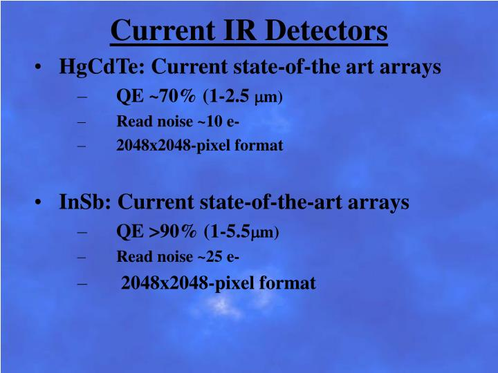 Current IR Detectors