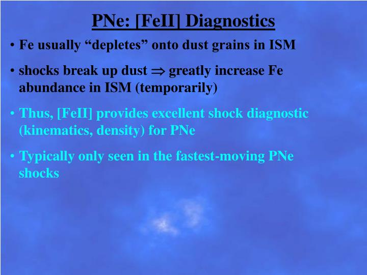 PNe: [FeII] Diagnostics