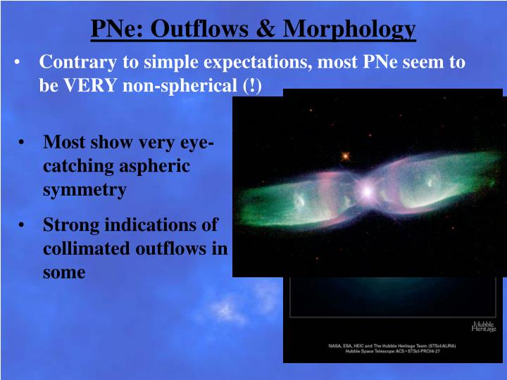 PNe: Outflows & Morphology