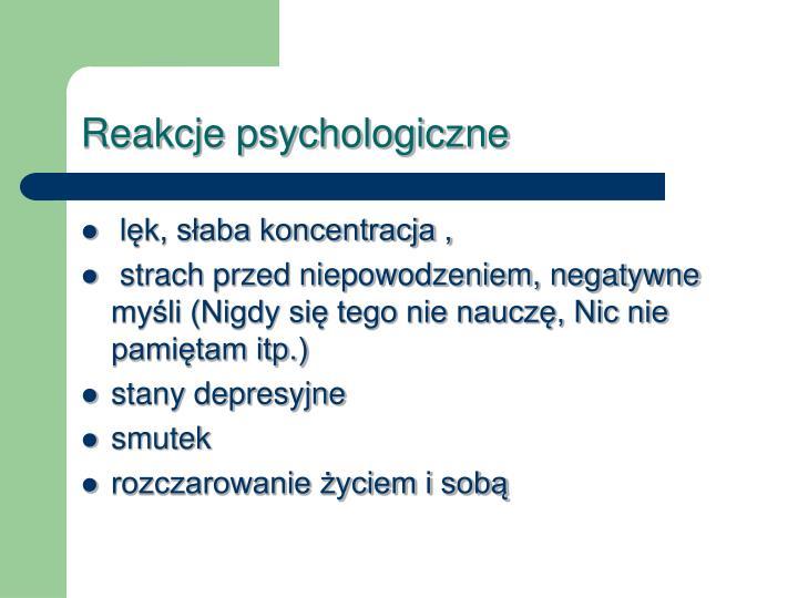 Reakcje psychologiczne