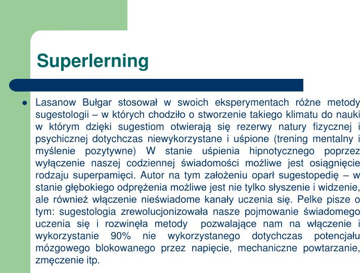 Superlerning
