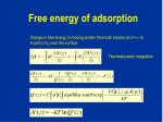 free energy of adsorption