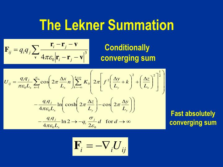 The Lekner Summation