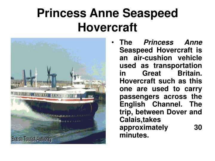 Princess Anne Seaspeed Hovercraft