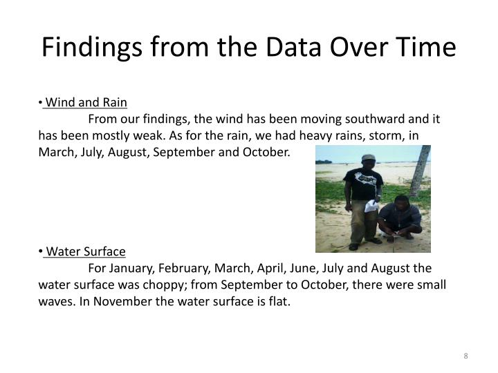 Findings from the Data Over Time