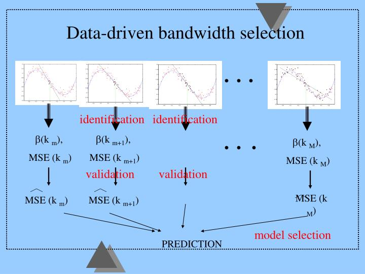 Data-driven bandwidth selection